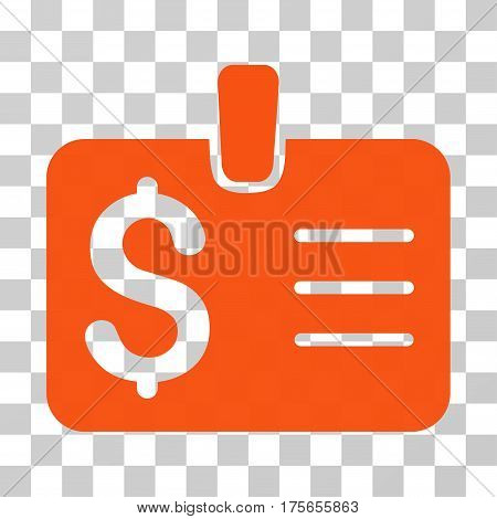 Dollar Badge icon. Vector illustration style is flat iconic symbol, orange color, transparent background. Designed for web and software interfaces.