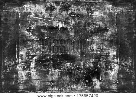 Black grange style texture of concrete wall. Vintage background