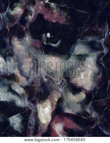 Dark Emotion Face  3D Render