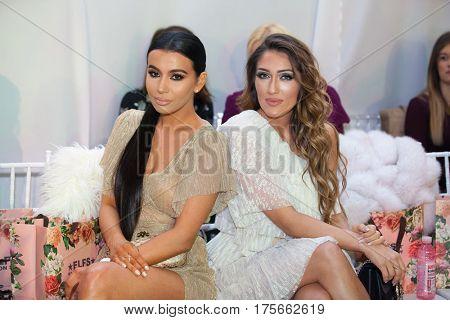ZAGREB, CROATIA - MARCH 2, 2017: Croatian celebrities Jelena Peric and Hana Hadziavdagic