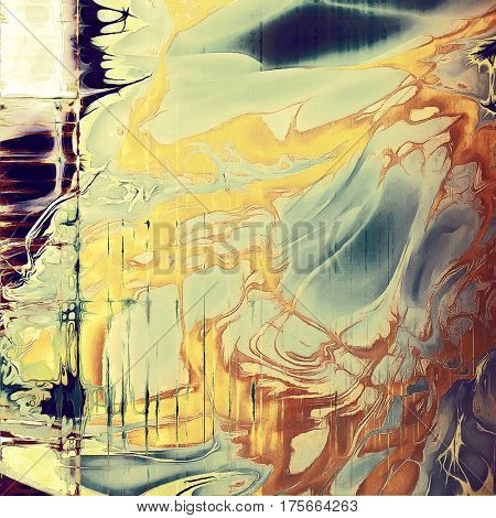 Old texture as abstract grunge background. With different color patterns: yellow (beige); brown; gray; blue; cyan; white