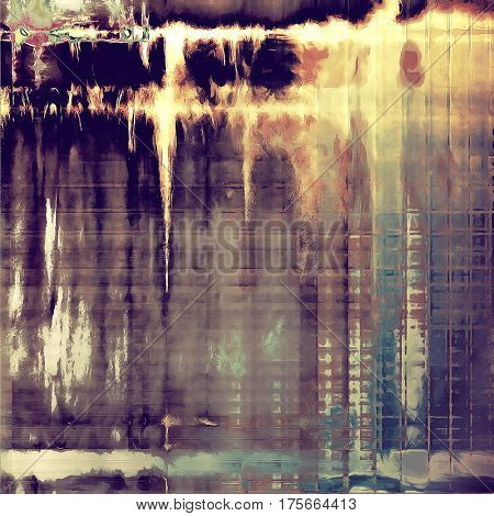 Colorful grunge background, tinted vintage style texture. With different color patterns: yellow (beige); brown; gray; blue; red (orange); purple (violet)
