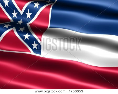 Flag Of The State Of Mississippi