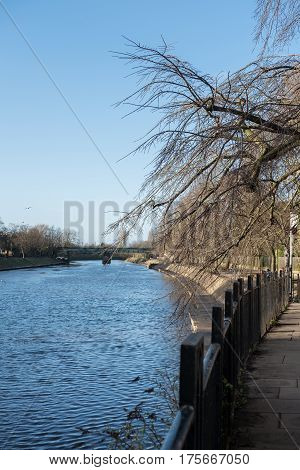 View of Building along River Ouse York England