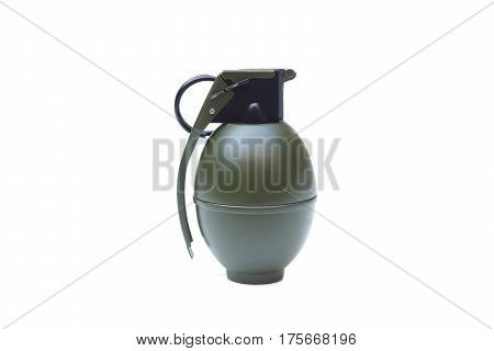 A hand grenade isolated on white background