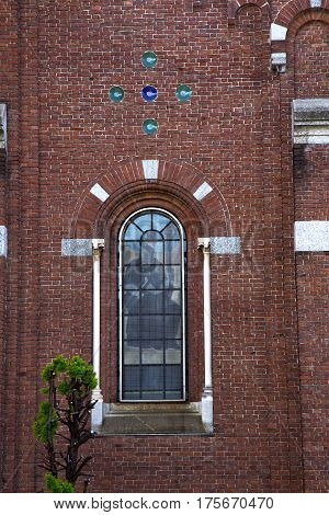 Rose Window  Italy  Lombardy      The Cardano    Closed Brick   Tower   Tile