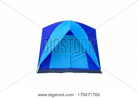 Tent isolated on white This has clipping path.