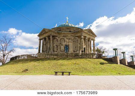 Grave Chapel Stuttgart Mausoleum European Blue Skies Old Architecture Landscape Beautiful Monument Germany