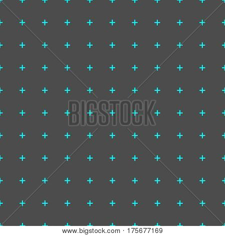 plus blue sign icon seamless pattern cross texture