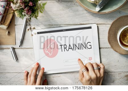 Training New Business Launch Plan Concept