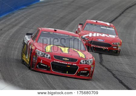 March 05, 2017 - Hampton, Georgia, USA: Jamie McMurray (1) battles for position during the Folds of Honor QuikTrip 500 at Atlanta Motor Speedway in Hampton, Georgia.