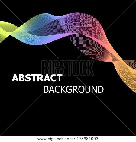 Abstract background with colourful pastel lines wave, stock vector
