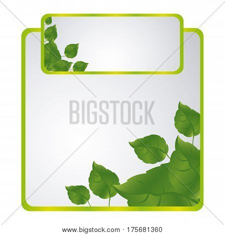 green sheath of leaves icon, vector illustraction design
