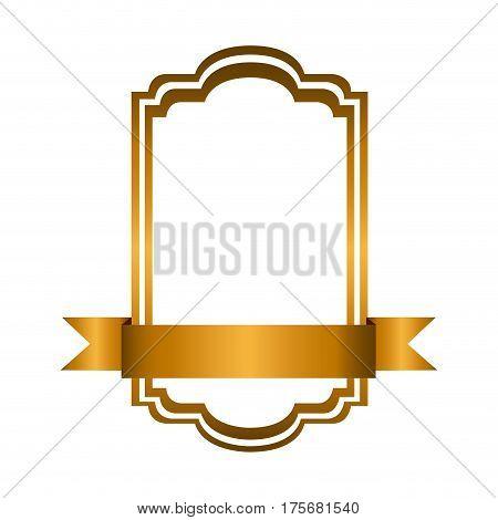 yellow square emblem icon, vector illustraction design image