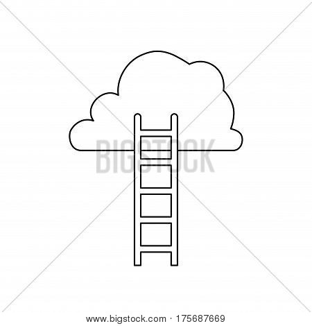 Ladder to heaven icon vector illustration graphic design