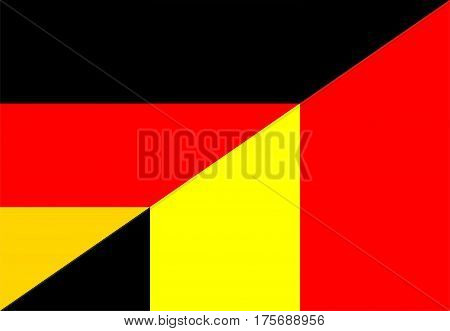 germany belgium neighbor countries half flag symbol