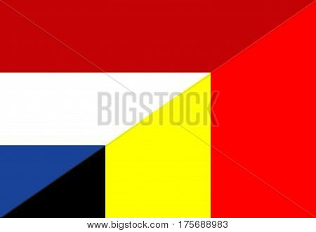 netherland belgium neighbor countries half flag symbol