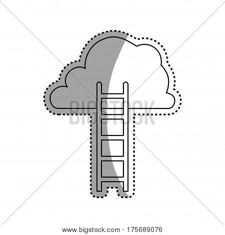 Ladder to heaven icon vector illustration graphic design