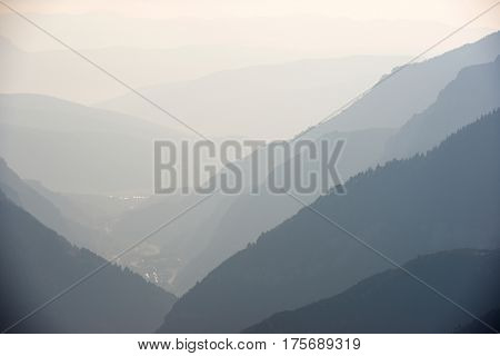 Hills in Canfranc Valley, Pyrenees, Huesca Province, Aragon, Spain.