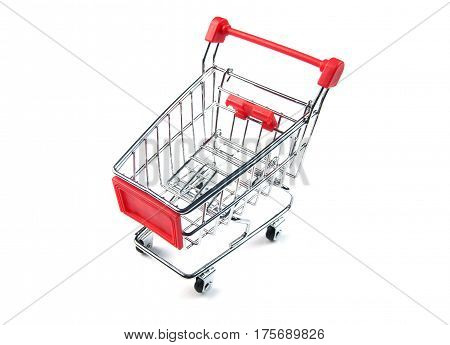 Shopping cart with sale and maketing delivery concept