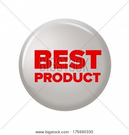 Round Button With Word 'best Product'