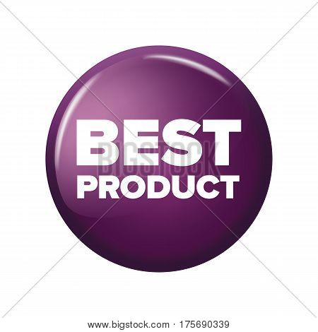 Bright Violet Round Button With Word 'best Product'
