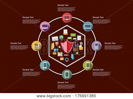 Infographics element of technology background. Technology grpahic elements.