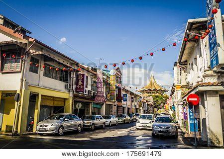 Chinatown In Kuching, Malaysia