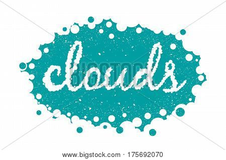 White clouds text background vector illustration eps 10