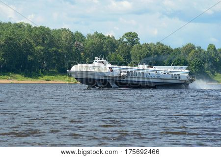 TUTAYEV, RUSSIA - JULY 10, 2016: The hydrofoil