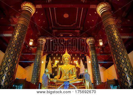 Phitsanulok, Thailand - November 4 2016: Phra Phuttha Chinnasi Buddha Image At Wat Phra Si Rattana M