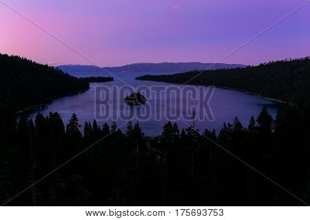 Emerald Bay At Lake Tahoe Before Sunrise, California, Usa