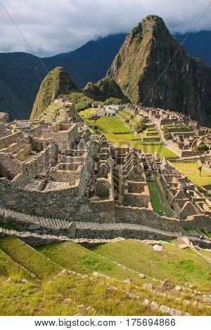 Inca Citadel Machu Picchu In Peru