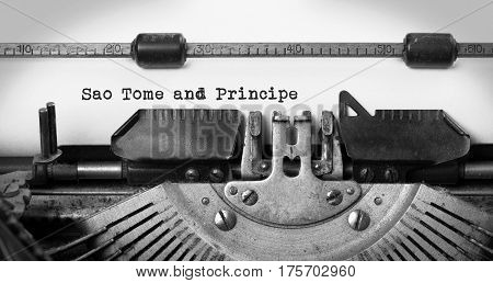 Old Typewriter - Soa Tome And Principe