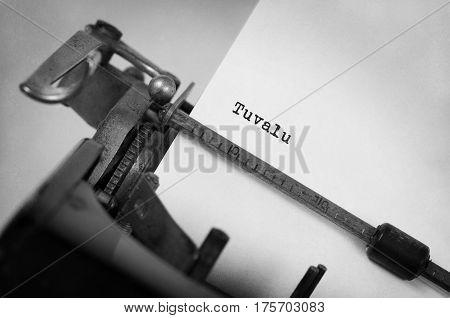 Old Typewriter - Tuvalu