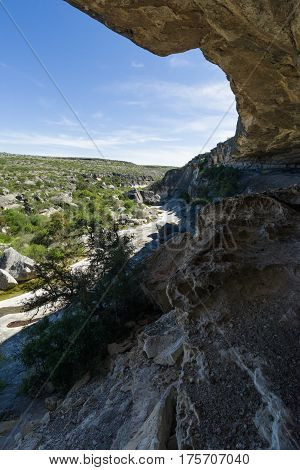 View From Cliff In Seminole Canyon, Texas