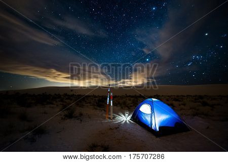 White Sands National Monument Camping At Night