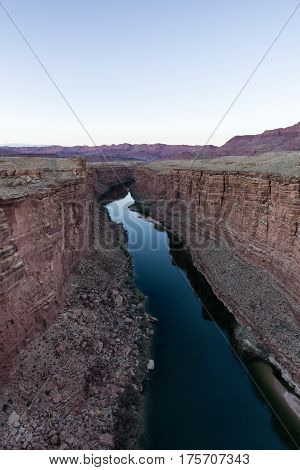 View Down The River At Marble Canyon, Arizona