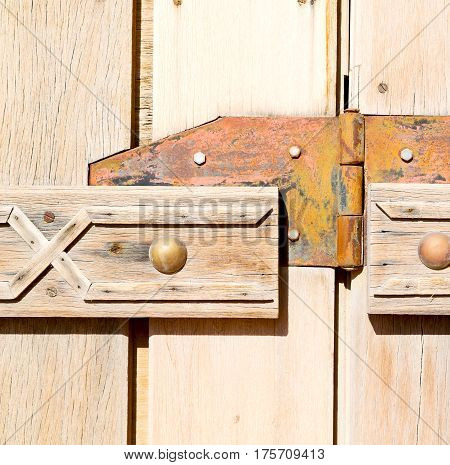 In Oman Old Antique Door Texture And Abstract Background Line