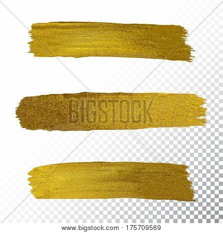 Vector Gold Paint Smear Stroke Stain