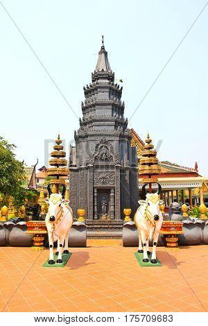 Wat Preah Prom Rath in Siem Reap Cambodia