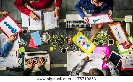 Successful business team in a meeting conference room concepts about teamwork and business - Team brainstorming in a modern start up office