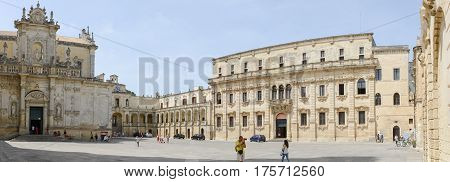 Cathedral Of Lecce In Pauglia, Italy
