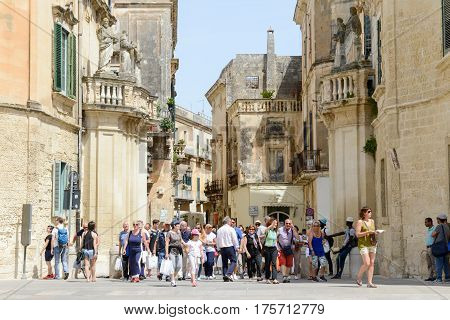 The Old Town Of Lecce On Puglia, Italy