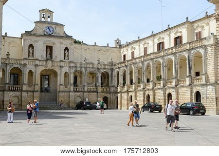 Episcopal Palace On Duomo Square In Lecce, Italy