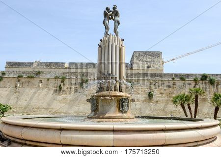 Castle Of Charles V In Lecce On Puglia, Italy