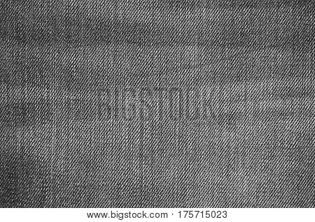 Texture of jeans textile close up. Blank backdrop for design. Multicolor background set.