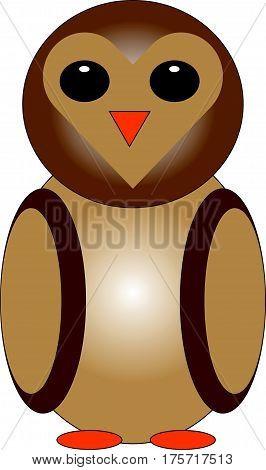 Owl on white background. Vector illustration. Eps 10