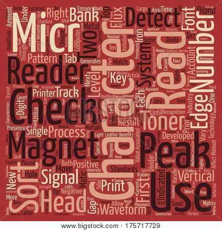 A Concise Guide To MICR And Associated Technologies Word Cloud Concept Text Background