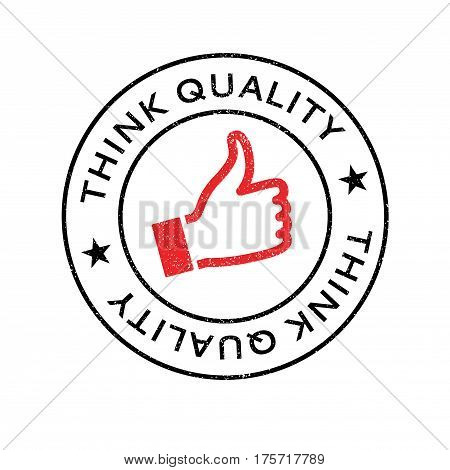 Think Quality rubber stamp. Grunge design with dust scratches. Effects can be easily removed for a clean, crisp look. Color is easily changed.